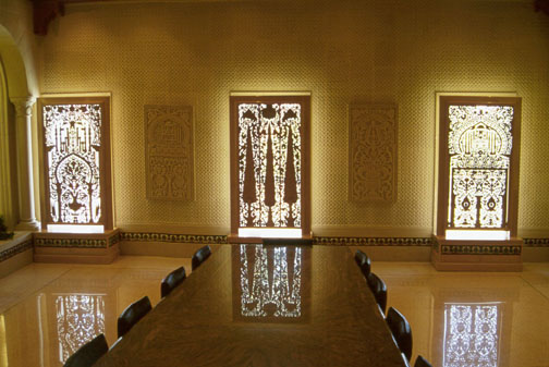 Carved Wood And Stone Panels Of The Tunisian Room